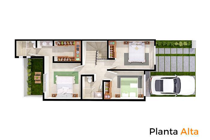 Planta alta modelo Cedro, Paseos del Bosque 3 Residencial