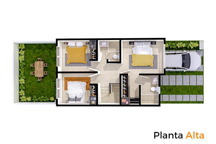Planta alta modelo Tabachín, Paseos del Bosque 3 Residencial