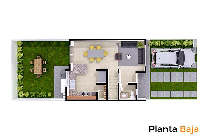 Planta baja modelo Tabachín, Paseos del Bosque 3 Residencial