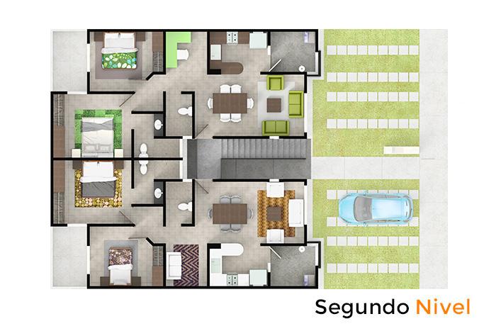 Segundo nivel modelo Olmo, Paseos del Bosque 3 Residencial