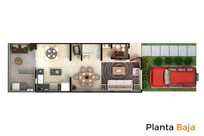 Planta Baja casa modelo Fresno, Paseos del Bosque 2